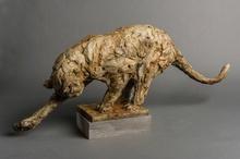 Patrick VILLAS - Sculpture-Volume - Léopard se léchant la patte