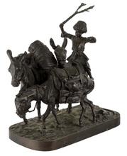 Evgeni Alexandrovich LANCERAY - Sculpture-Volume - A Boy And Three Donkeys