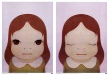 奈良美智 - 版画 - Cosmic Girl, Eyes Open & Eyes Closed (2 works)