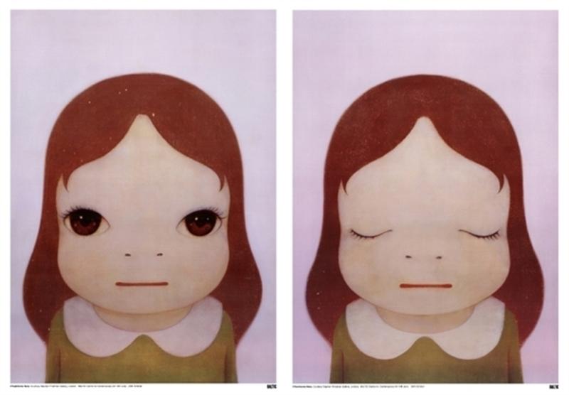 Yoshitomo NARA - Estampe-Multiple - Cosmic Girl, Eyes Open & Eyes Closed (2 works)