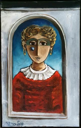 Yosl BERGNER - 绘画 - Girl in a Window