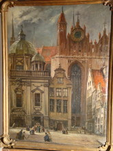 Hans LAASNER - Painting - Blick in die kleine Krämergasse Danzig