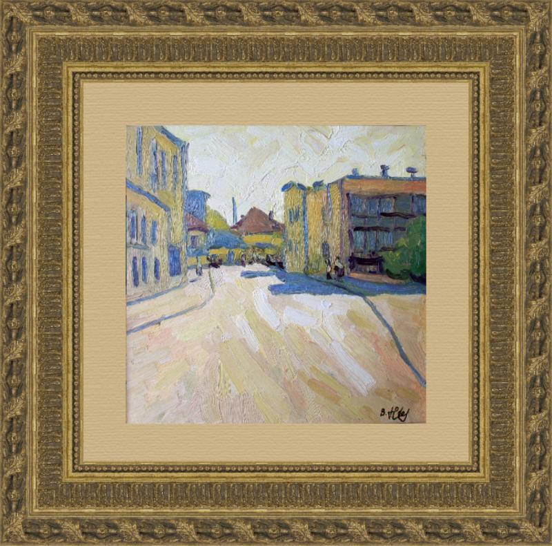 Valeriy NESTEROV - Pintura - Sretenskiy lane. Moscow
