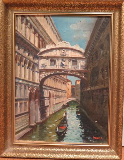 Luigi LANZA - Painting - Venise