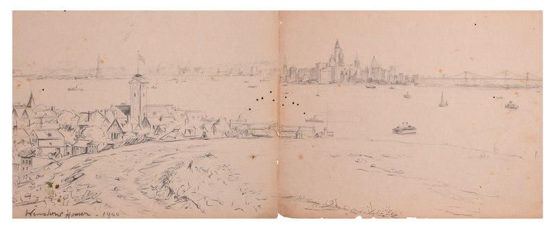 Winslow HOMER - Drawing-Watercolor - NYC in the 1900s