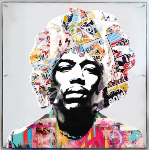 Peter  BEDNORZ & Paul  THIERRY - Print-Multiple - Jimmy Hendrix