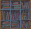 Mikhail ROGINSKY - Painting - Bottles on the shelf