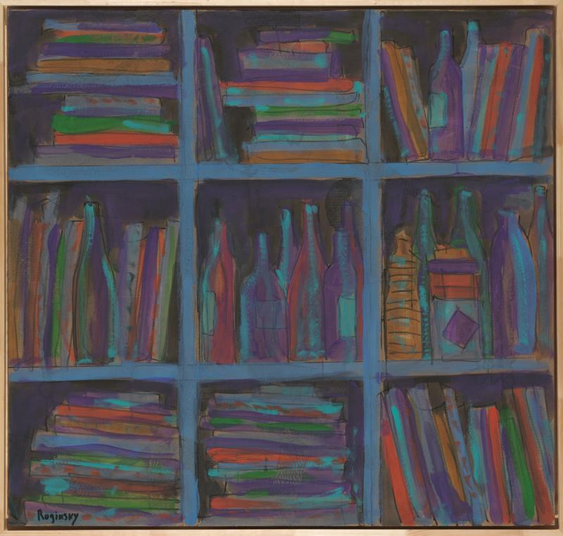 Mikhail ROGINSKY - Pittura - Bottles on the shelf