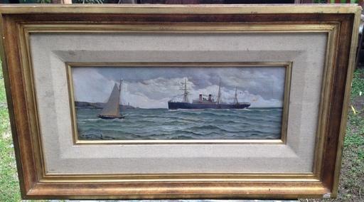 Francisco GUTIERREZ RIVERA - Painting - Llegando al Puerto