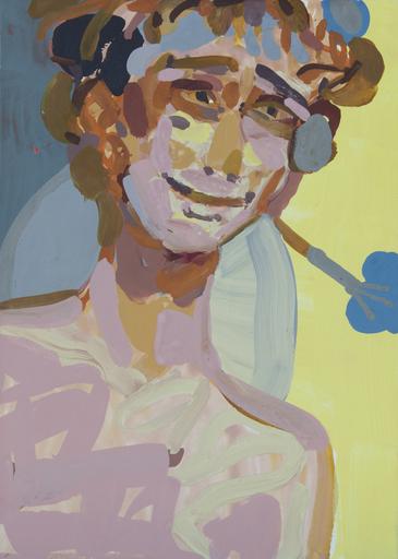 Sandra DETOURBET - Painting - Blaubird