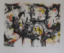 Iaroslav Sossountzov SERPAN - Print-Multiple - LITHOGRAPHIE 1953 SIGNÉ CRAYON NUM/25 HANDSIGNED LITHOGRAPH