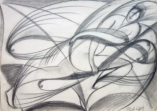 Giacomo BALLA - Drawing-Watercolor - Danza dell'elica