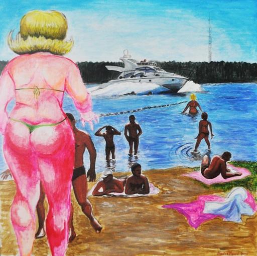Vladislav MAMYSHEV-MONROE - Peinture - Beach incident. Diptych