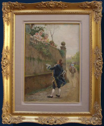 Cristofor ALANDI - Painting - Scena galante