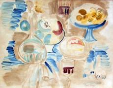 Raoul DUFY - Dibujo Acuarela - Nature Morte a la Carafe