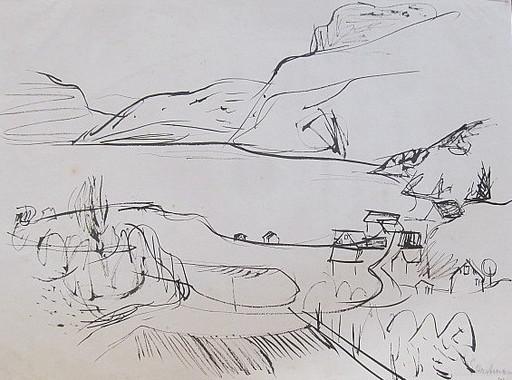Erich HARTMANN - Dessin-Aquarelle - #19919: Norwegischer Fjord.