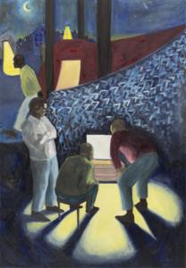 Martin FAURE - Painting - «Porte de la chapelle»,