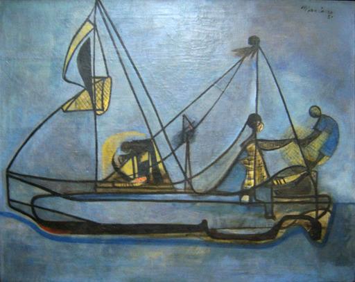 Mariano RODRIGUEZ - Pintura - Bote de pescadore