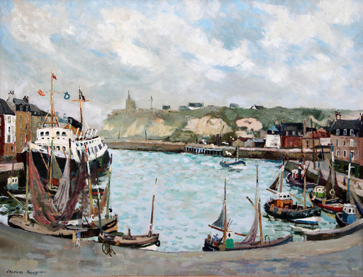 Jacques BOUYSSOU - Painting - Le port de Dieppe