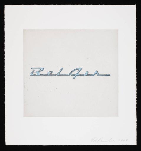爱德华•鲁沙 - 版画 - Motor City (Bel Air)