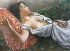 Pierre DEVAL - Drawing-Watercolor - L'heure de la sieste