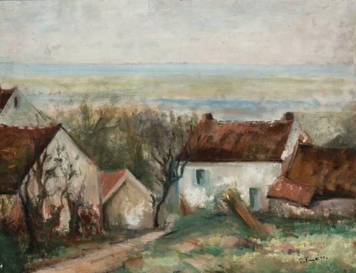 José PALMEIRO - Painting - Paisaje de Bretaña