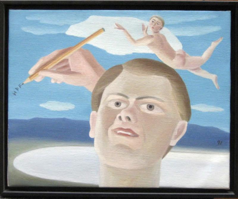 Helgi THORGILS - Gemälde - Selfportrait