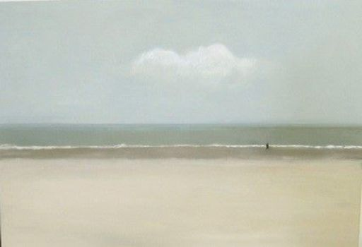 Vivi HERREBOUDT - Painting - Me and the Sea 2    (Cat N° 5856)