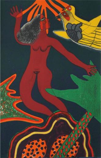 CORNEILLE - Estampe-Multiple - Femme volante