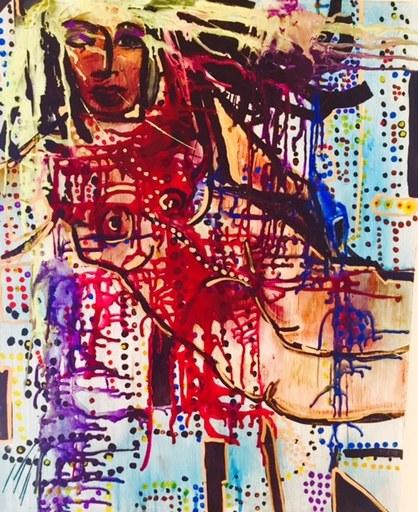 Greta CHAPIN-MCGILL - Peinture - Goddess of NY