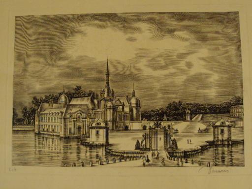 "Albert DECARIS - Stampa Multiplo - ""Le chateau"""