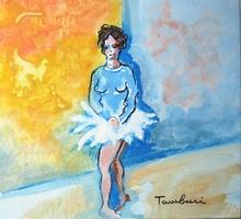 Orfeo TAMBURI - Gemälde - Senza titolo (Danzatrice in pausa)