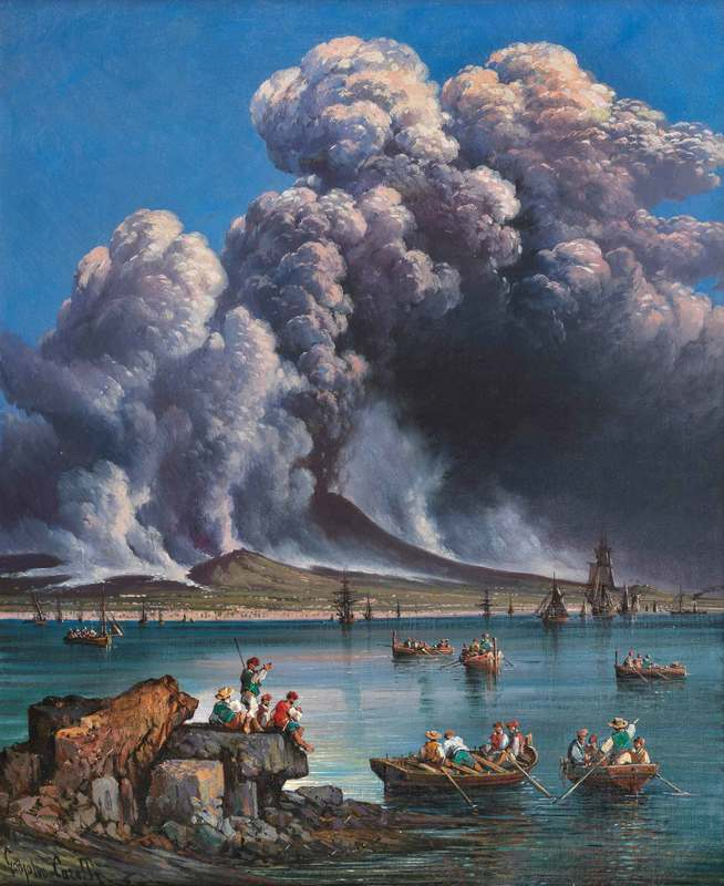 Consalvo CARELLI - Gemälde - Terribile eruzione del 16 aprile 1873