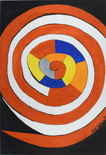 Alexander CALDER - Drawing-Watercolor - Grande spirale en couleur