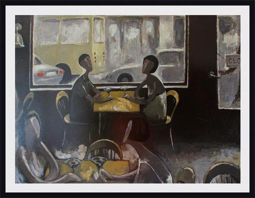 Ramaz ROSTOMASHVILI - Gemälde - At the restaurant