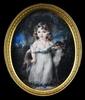 Augustin Christian RITT - Miniatura - Portrait of Prince Boris Yusupov with Dog