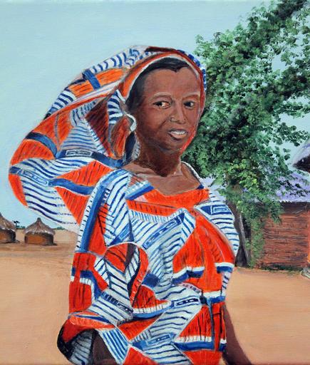 Jean PARRAUD - Painting - Femme Togolaise