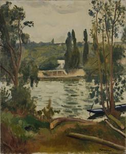 Albert MARQUET - Painting - Bord de Seine á Villennes