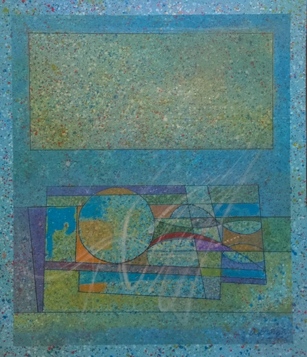 Alirio ORAMAS - Painting - Mágica Atmósfera en Azul