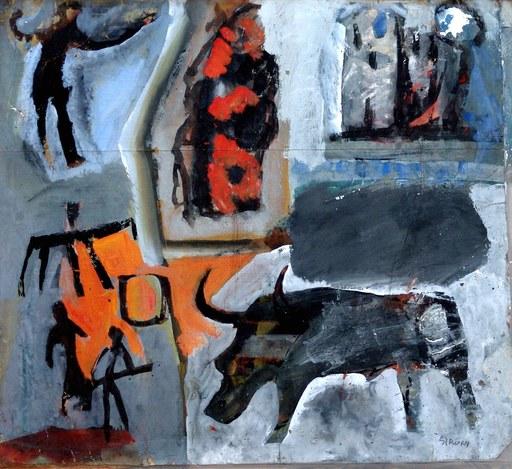 Mario SIRONI - Painting - Pittura rupestre