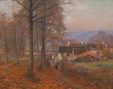Jean Eugène Julien MASSÉ - Peinture - Chemin du Tillet à Luzancy