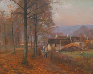 Jean Eugène Julien MASSÉ - Painting - Chemin du Tillet à Luzancy