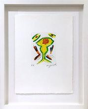 A.R. PENCK - Dessin-Aquarelle - Der Wächter grün - The Warden Green