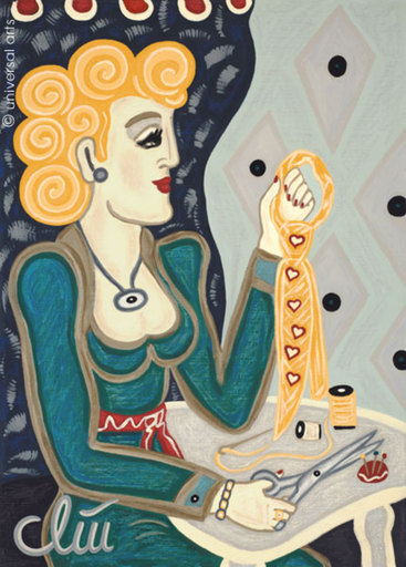 Jacqueline DITT - Painting - Sophisticated Lady  (Weltkluge Dame)