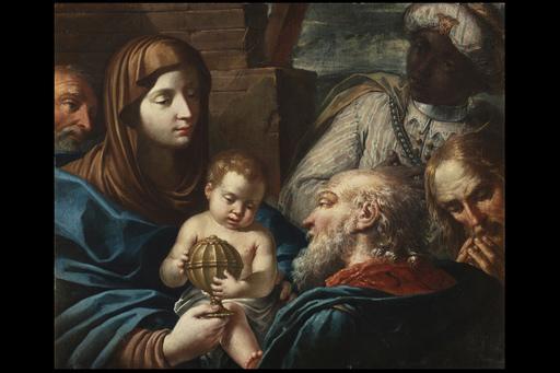 Andrea CELESTI - Painting - Adorazione dei Magi
