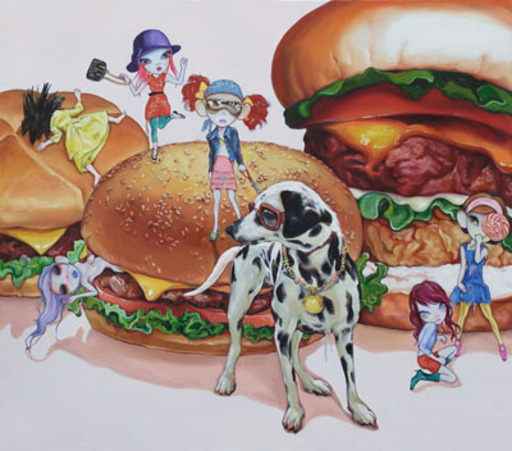 ZENG Lingxin - Pintura - My Happy Baby - Hamburger