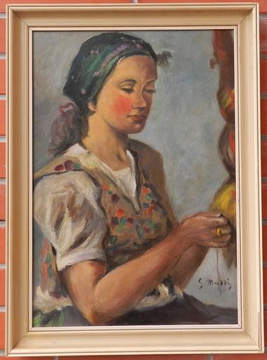 Gustav MALLY - Pintura - Priadka
