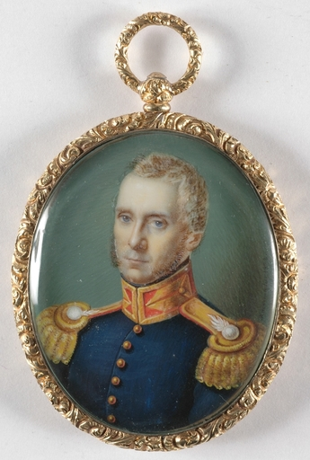 "Matthias RADERMACHER - Miniatura - ""Portrait of a General"", 1832, Miniature"