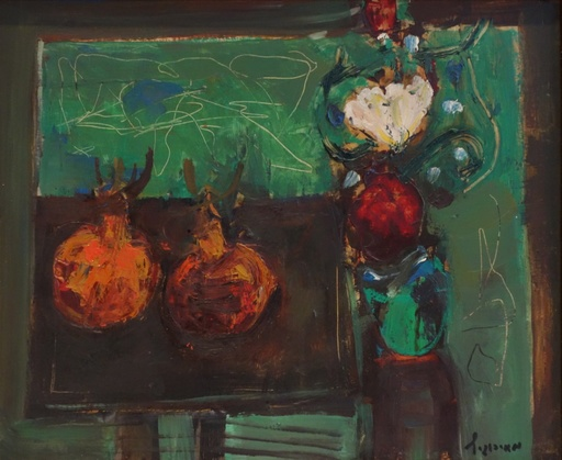 Zvi MAIROVITCH - Painting - Tabletop Still Life