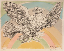 Pablo PICASSO (1881-1973) - Flying Dove (in Rainbow)